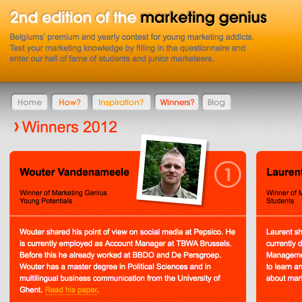 Marketing Genius Website Detail