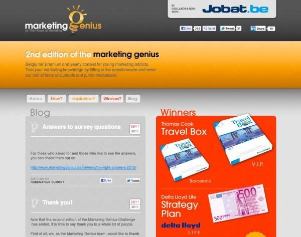Marketing Genius Website Home