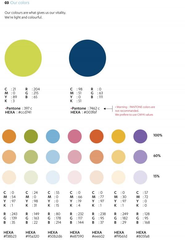 Beuc Corporate Identity Color Chart