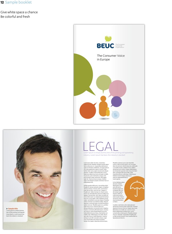Beuc Corporate Identity Sample Booklet