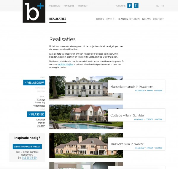 responsive web design development b+ villas interiors construction renovation filters