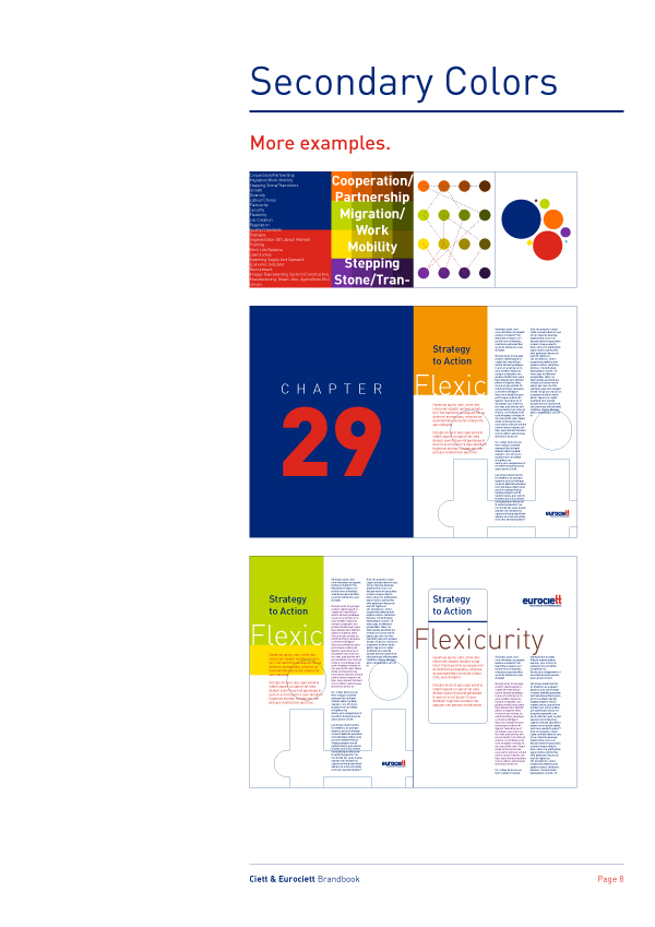 Ciett Brand Book Logo Secondary Colors Examples