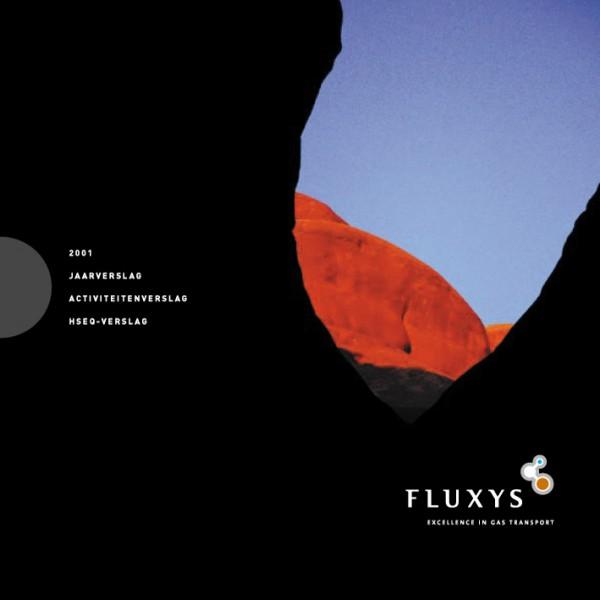 Fluxys Annual Report Design Cover