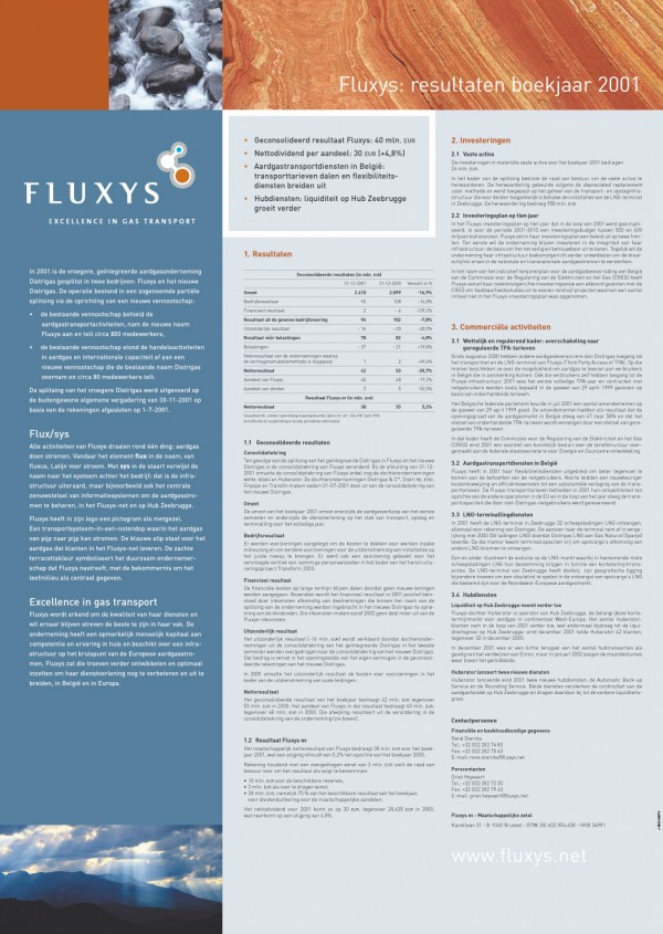 Fluxys Coporate Identity Results