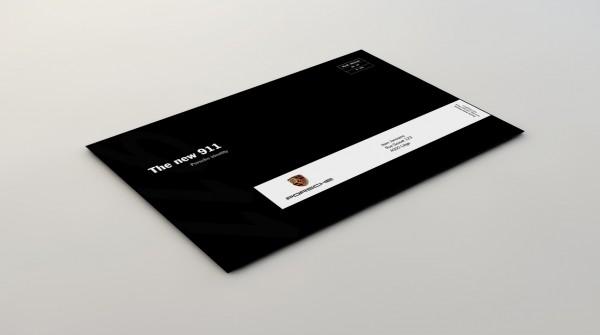 New Porsche 911 - Invitation Enveloppe